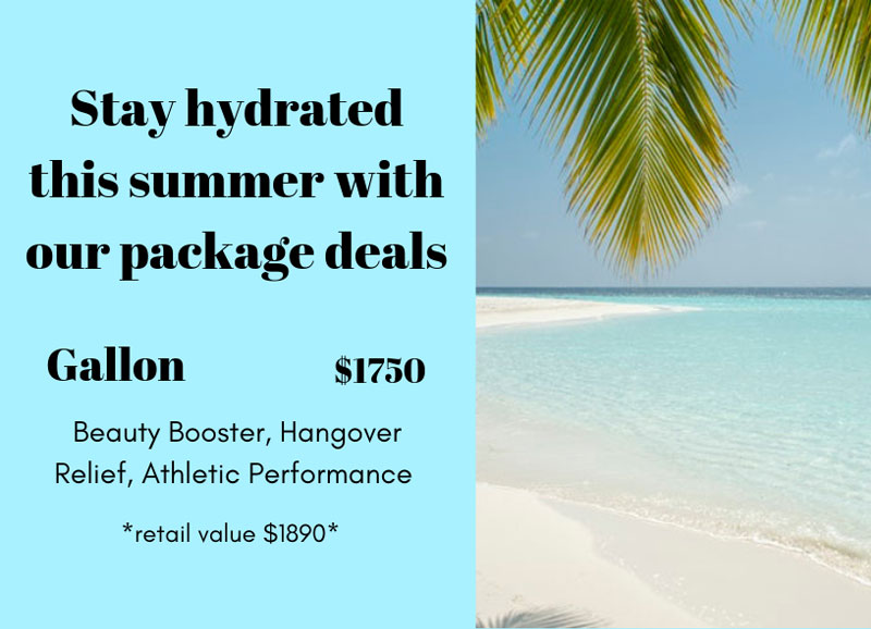 Stay hydrated this summer with our package deals